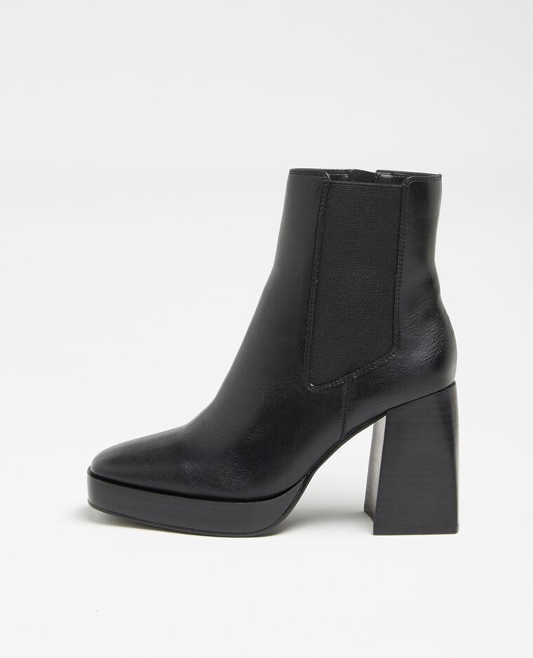 Boots plateforme noir