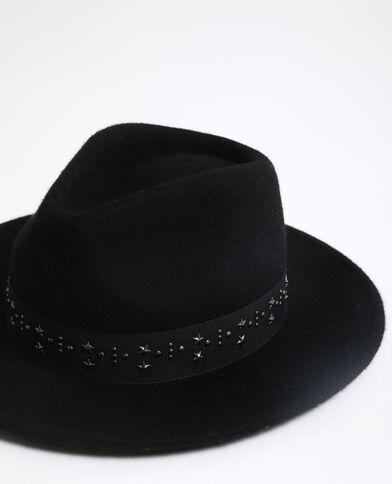 Fedora 100% laine noir