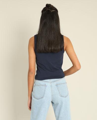 Basic topje marineblauw