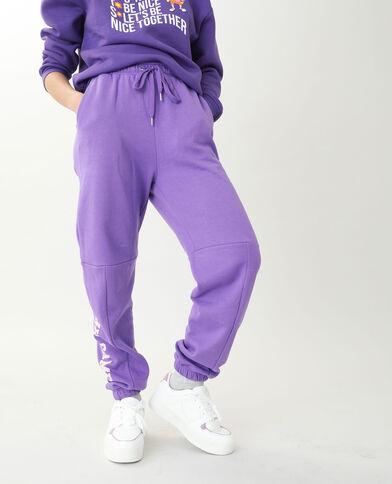 Joggingbroek van molton violet