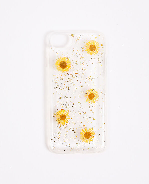 iPhone-hoesje met bloemen wit