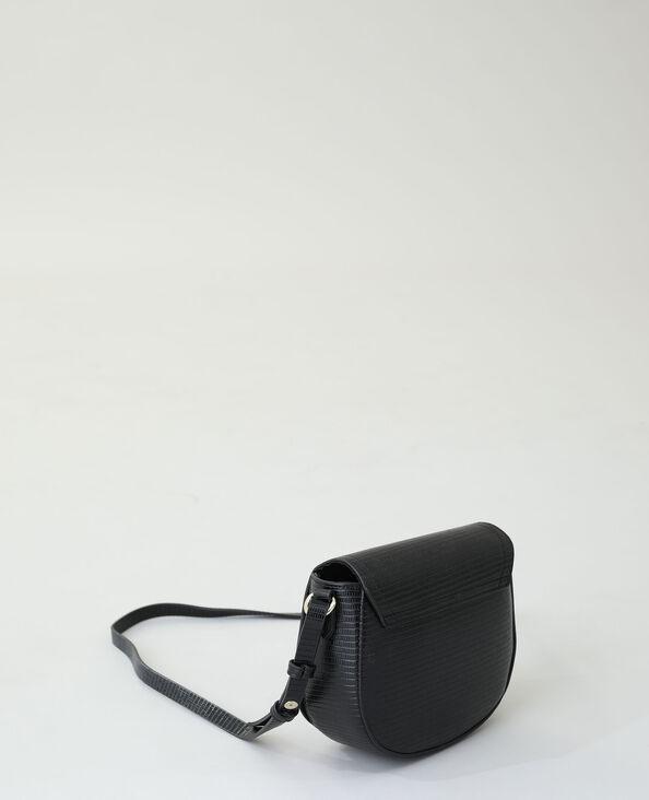 Kleine stijve handtas zwart