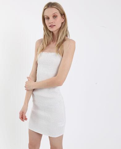 Robe en smock blanc