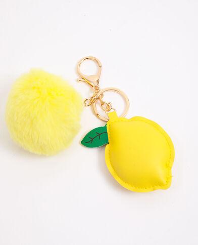Sleutelhanger met citroen geel