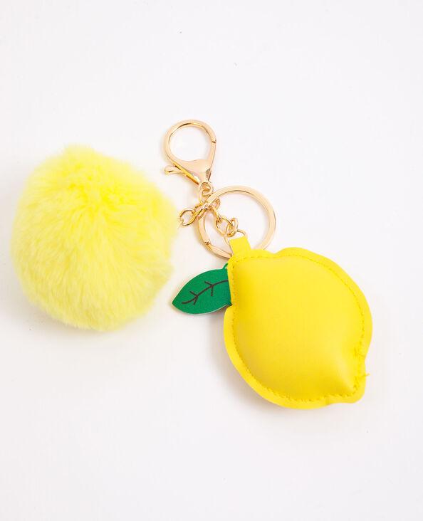 Porte-clés citron jaune