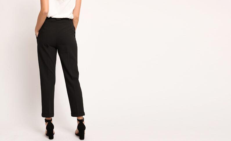 Pantalon city à ceinture noir