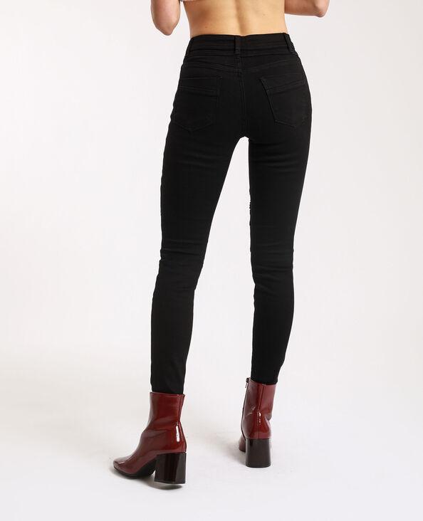 Jean skinny biker noir