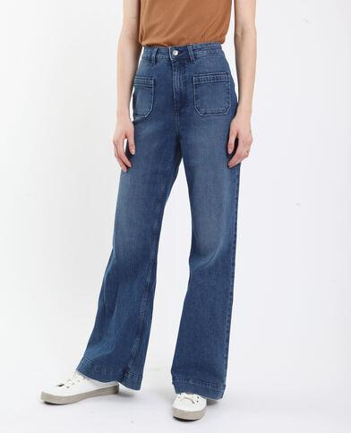 Jeans met brede pijpen blauw