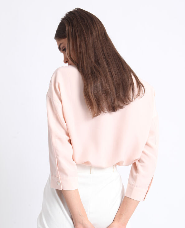 Kort hemd roze