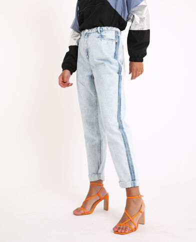 Bleached mom jeans Lichtblauw