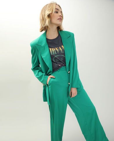 Veste longue vert