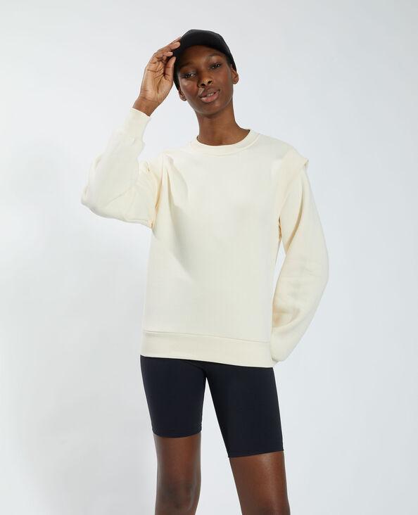 Sweater van molton wit - Pimkie
