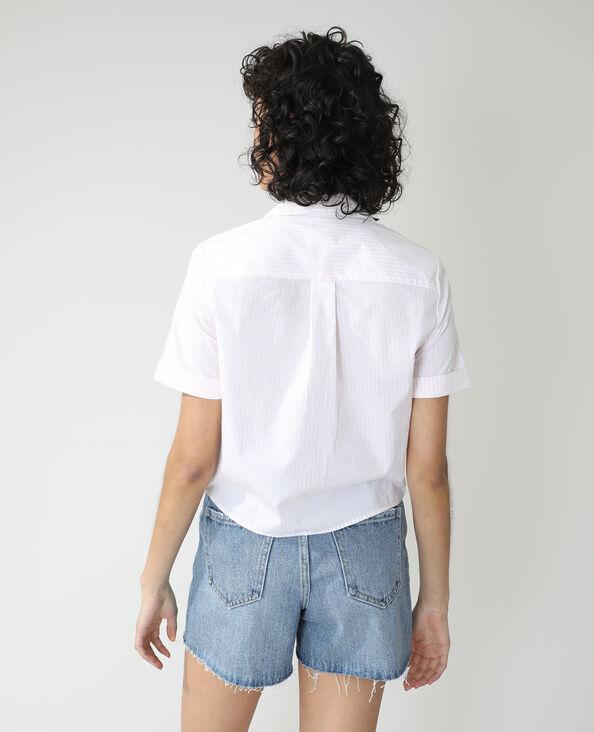 Gestreepte blouse wit - Pimkie