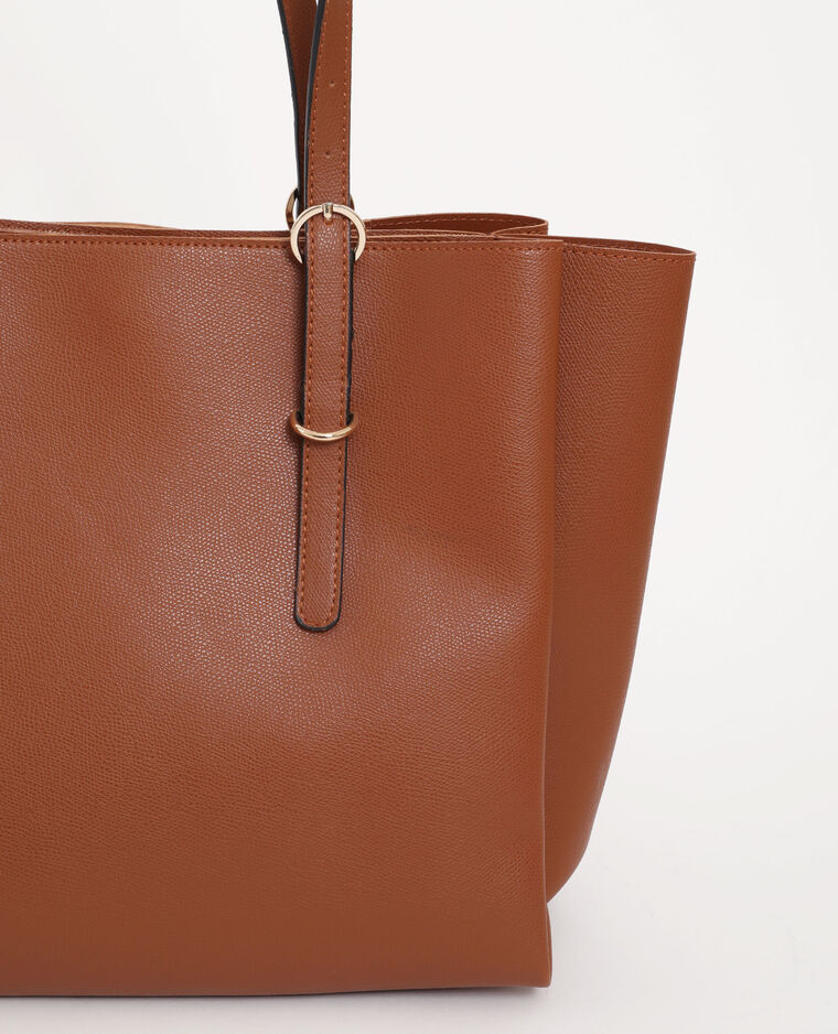Grand sac cabas marron