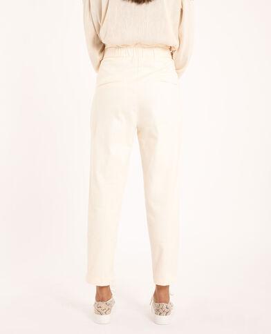 Pantalon carotte beige
