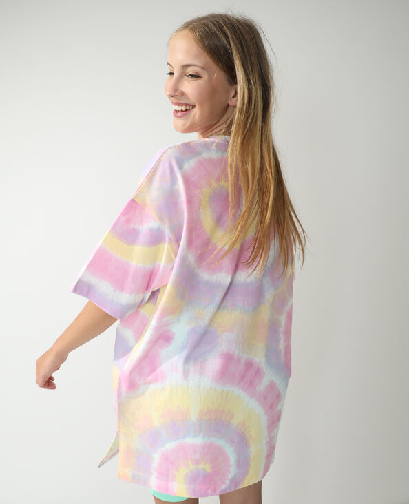T-shirt oversize tie and dye rose - Pimkie