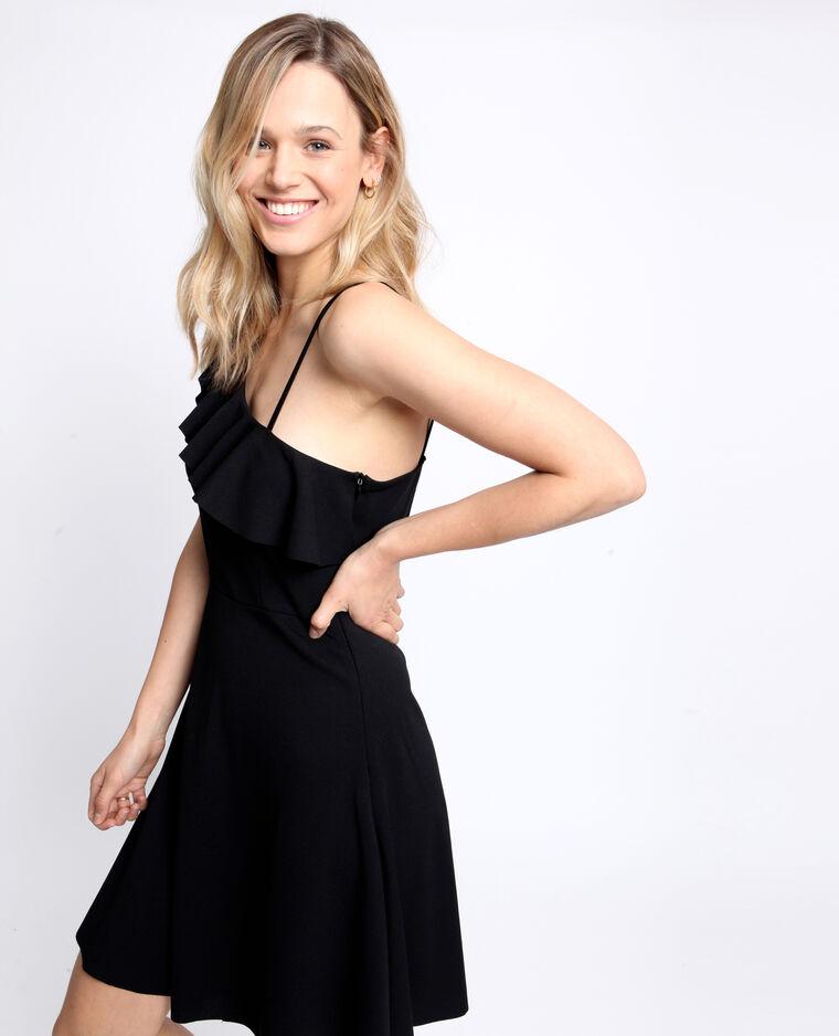 Asymmetrische jurk zwart