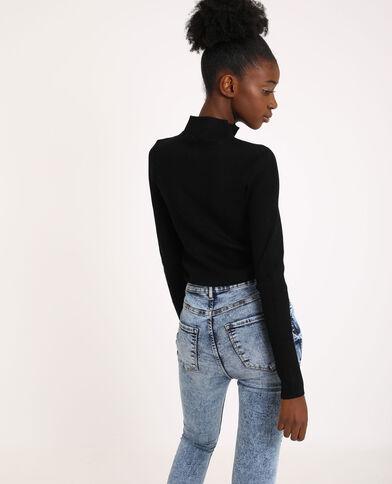 Pull zippé noir