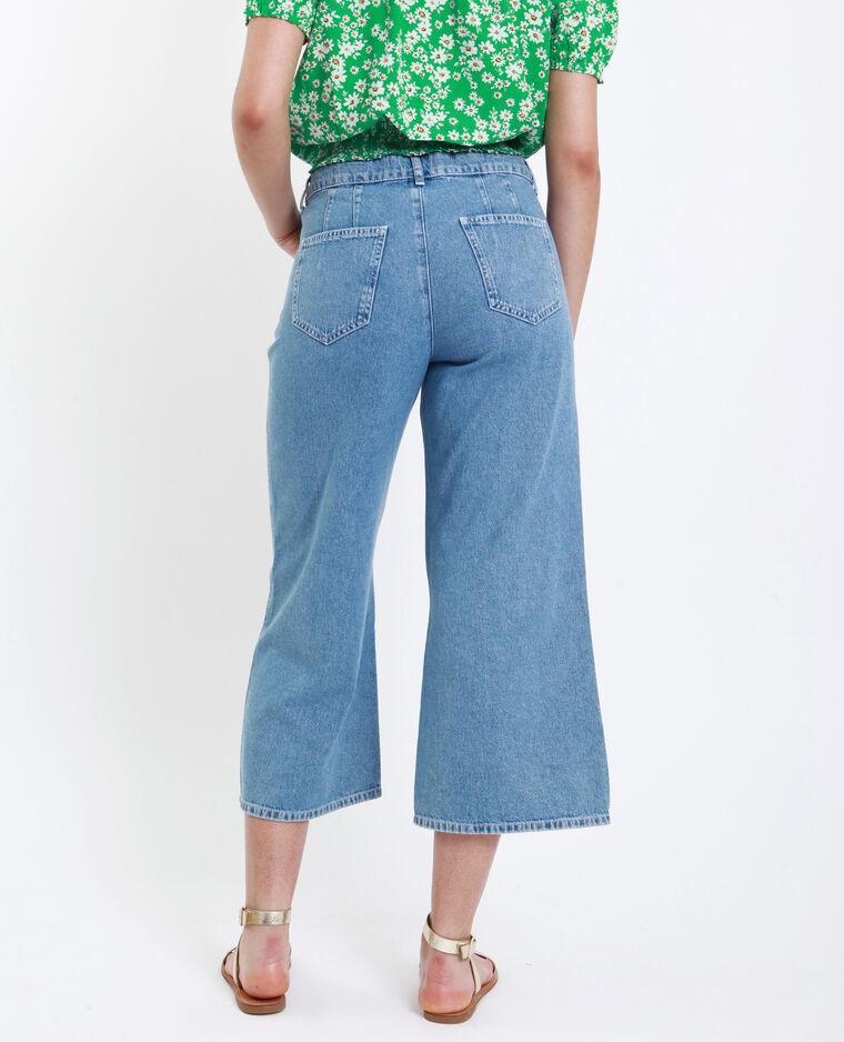 Wide leg jeans verwassen blauw