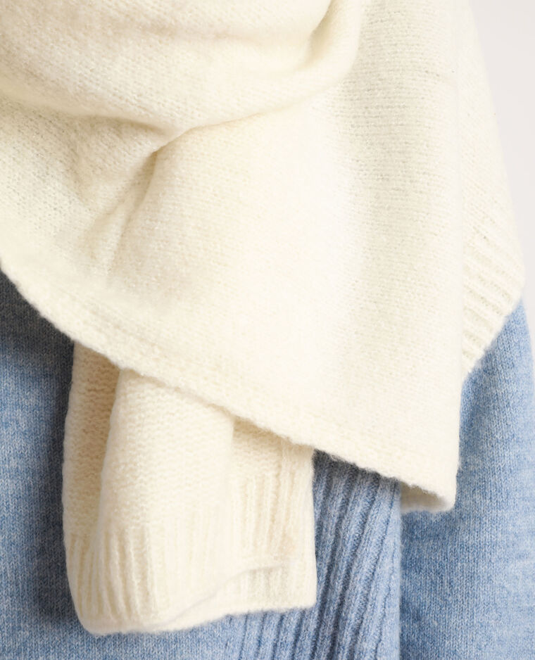 Echarpe longue blanc cassé