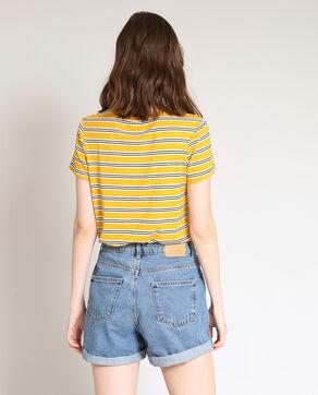 T-shirt met strepen geel