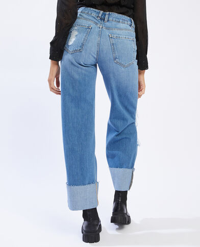 Ripped baggy jeans denimblauw - Pimkie