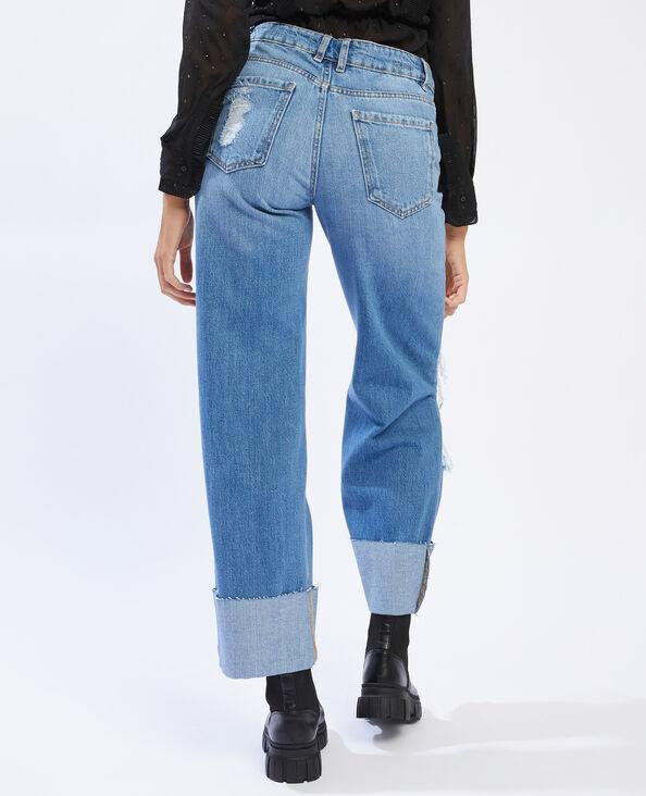 Jean baggy trashé bleu denim - Pimkie