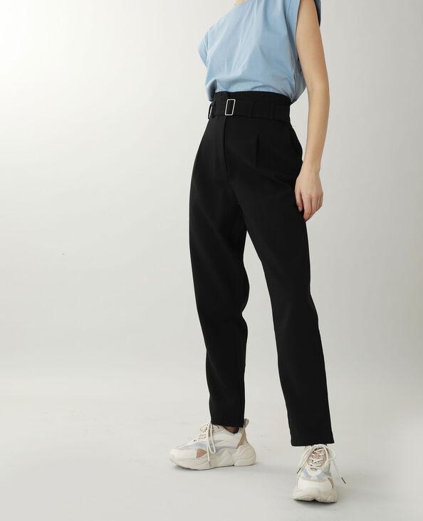 Pantalon taille haute noir