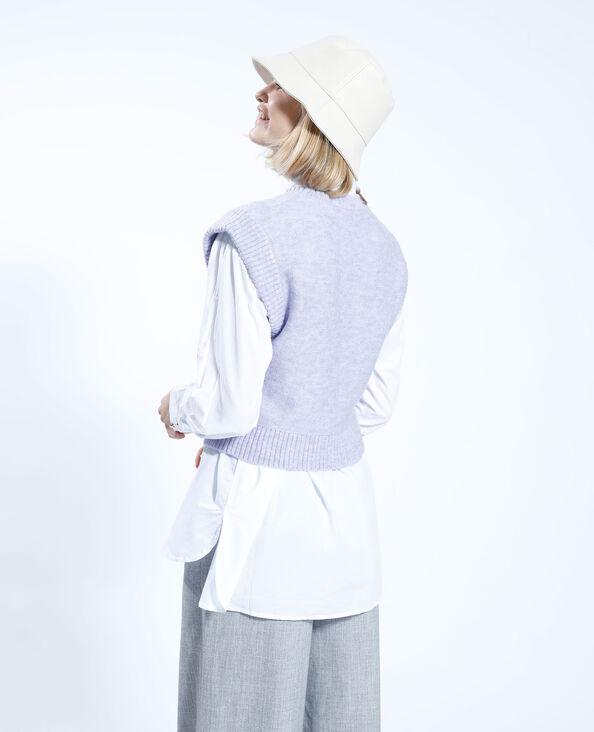 Cropped trui met kabelpatroon violet - Pimkie