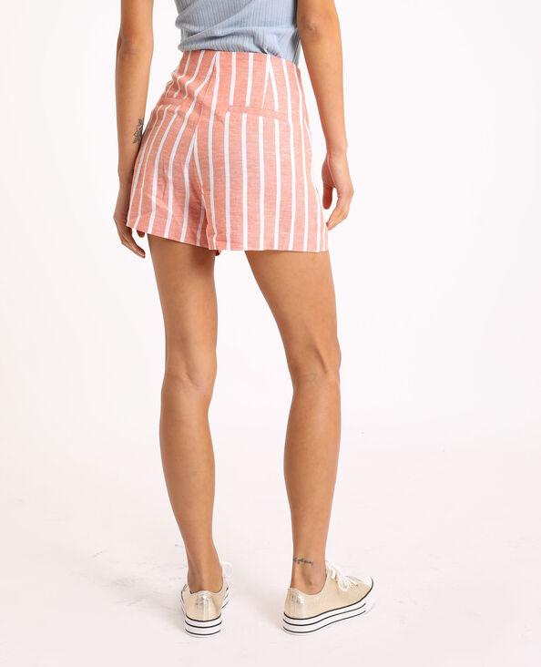 Short à rayures rose