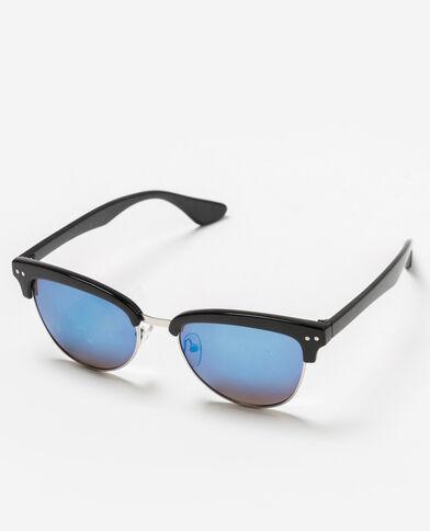 Zonnebril met spiegeleffect zwart