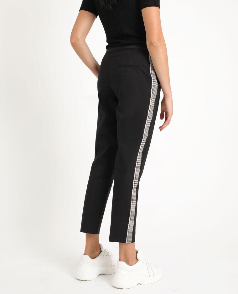 Pantalon city à bandes noir