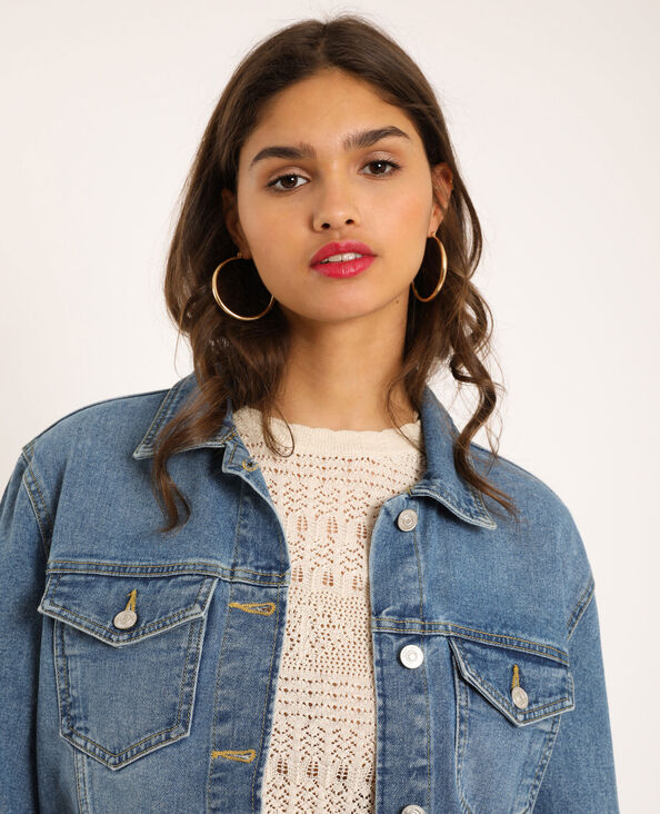 Veste en jean en matière recyclée bleu