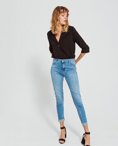 Body blouse noir