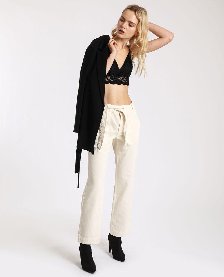 Pantalon droit à poches beige - Pimkie