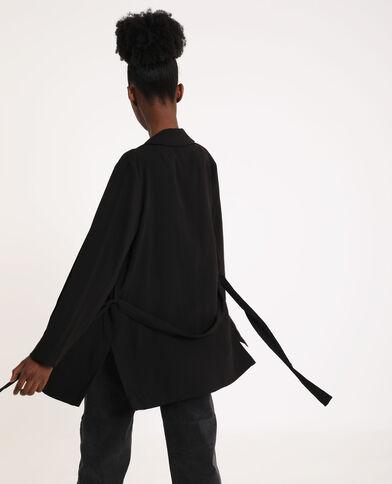 Soepele blazer zwart