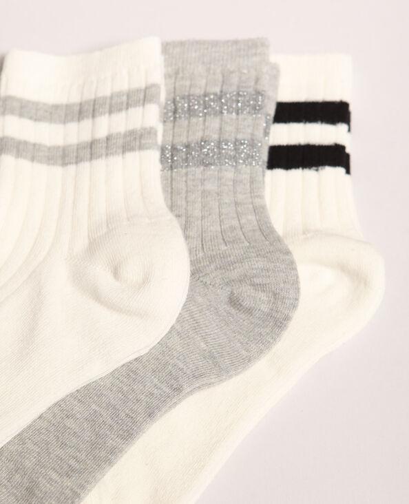 Set van gestreepte sokken wit
