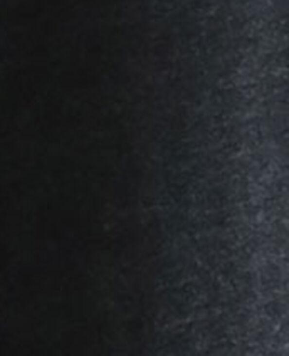 Robe ceinturée en matière recyclée noir