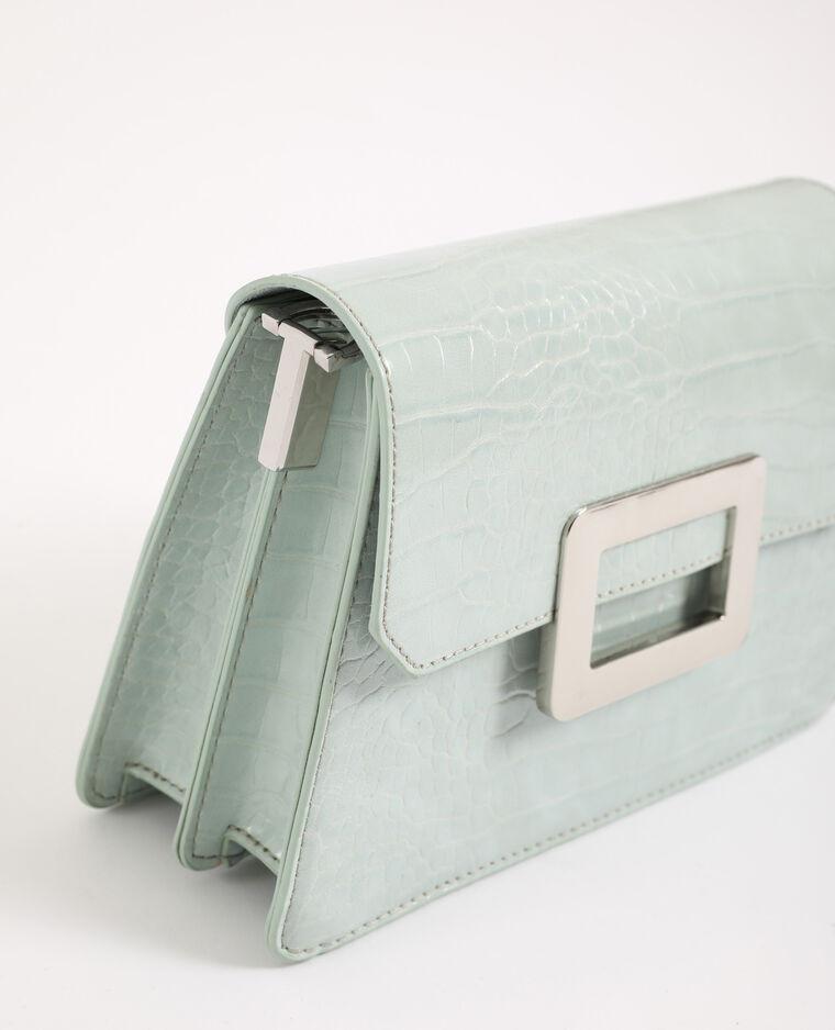 Petit sac croco vert d'eau