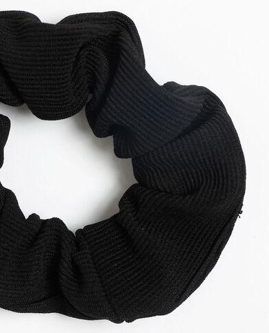 Scrunchie met textuur zwart