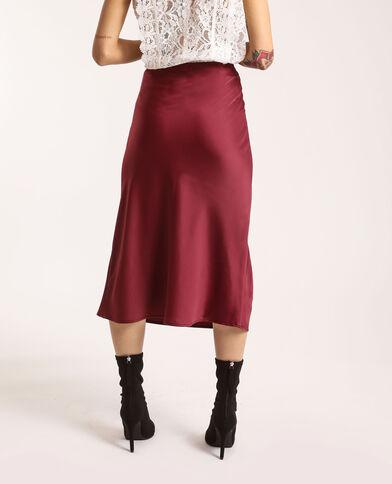 Halflange rok van satijnachtige stof roze