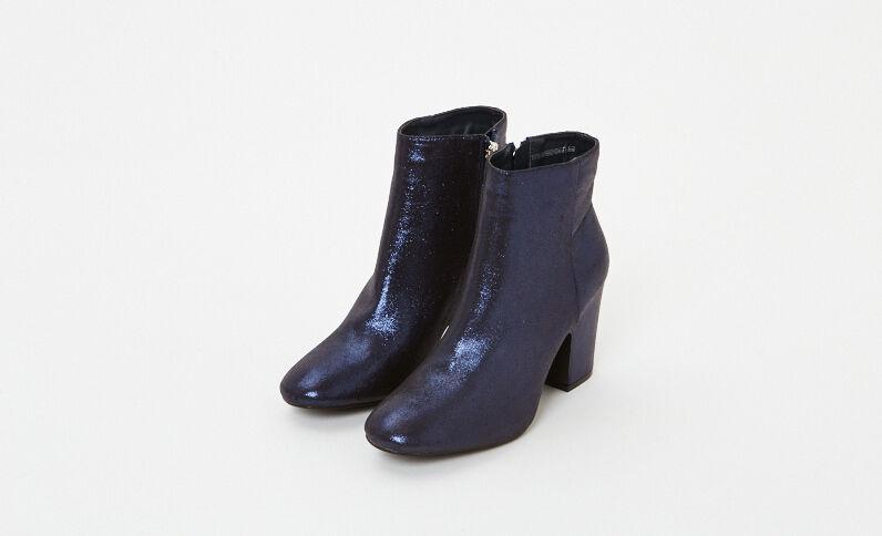 Boots à talons irisées bleu