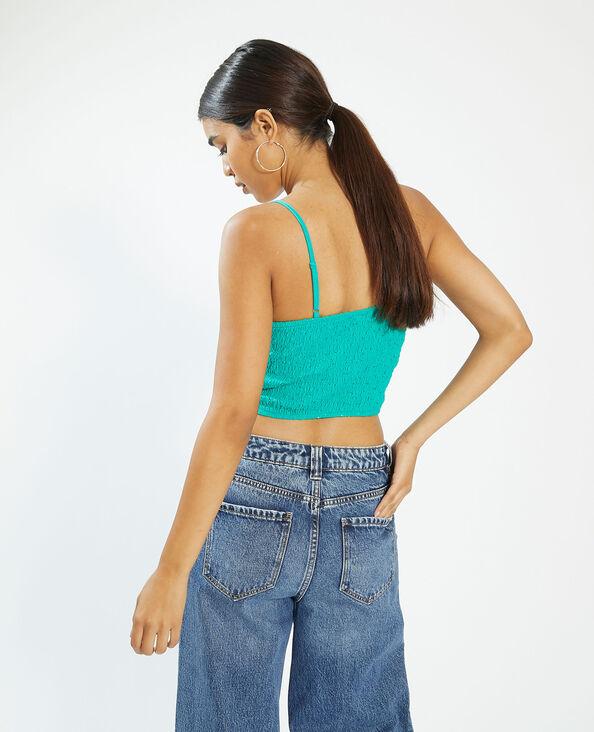 Top met kant en dunne schouderbandjes groen - Pimkie