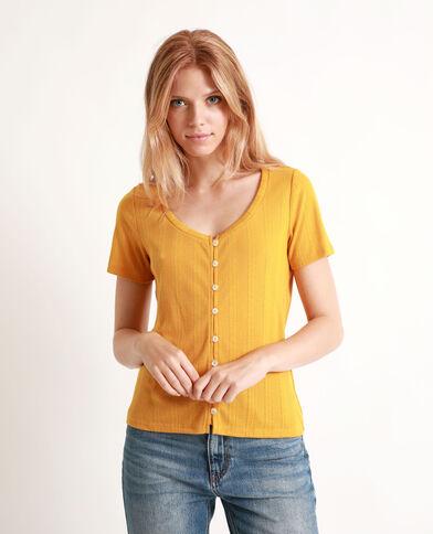 T-shirt à manches courtes jaune