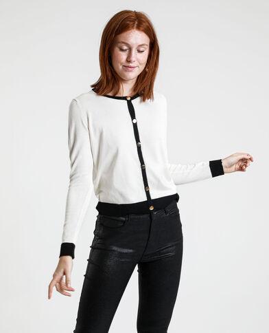 Tweekleurig vest wit