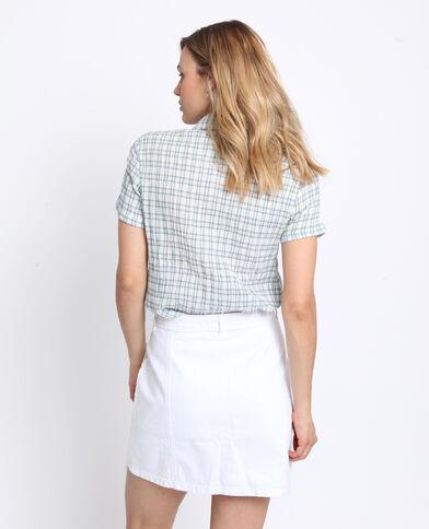 Chemise à carreaux blanc