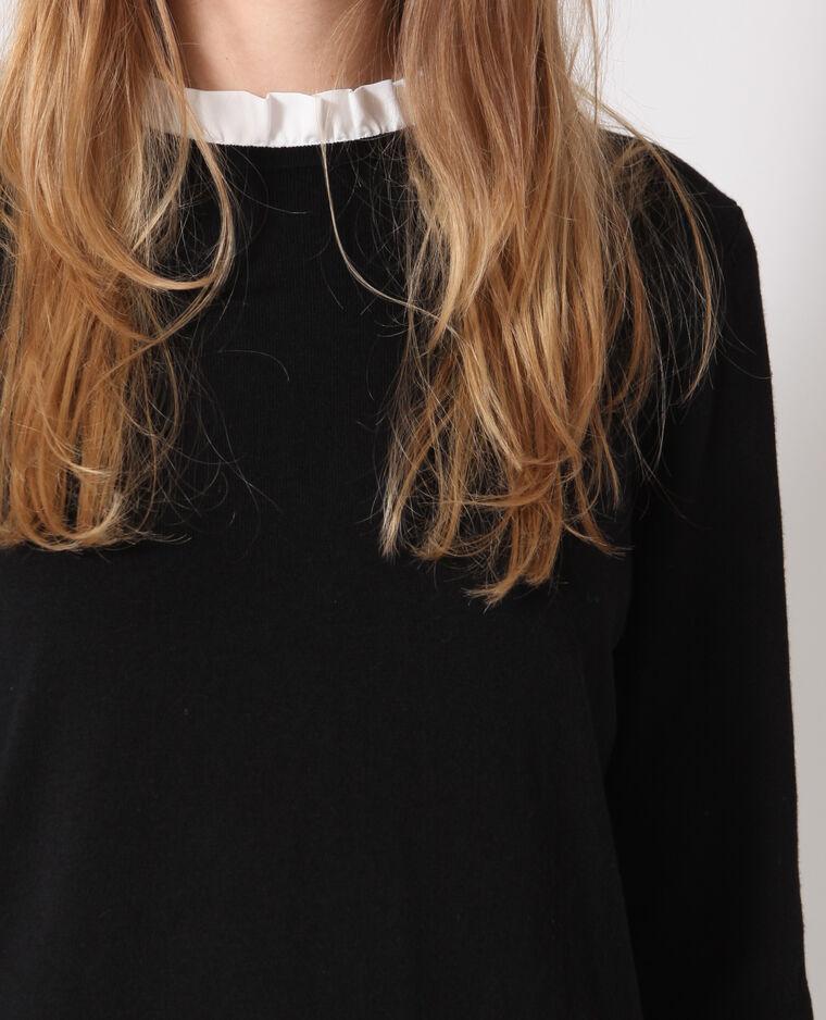 Pull chemise noir