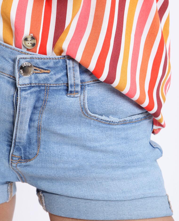 Jeansshort verwassen blauw