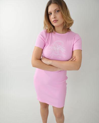 Robe t-shirt longue rose - Pimkie