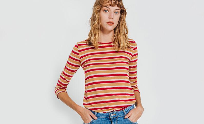 T-shirt à rayures Camel